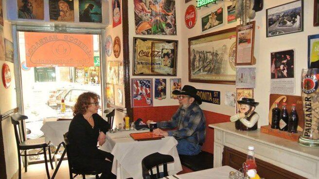 El dueño de Alfredo's Barbacoa, en su local de la calle Lagasca