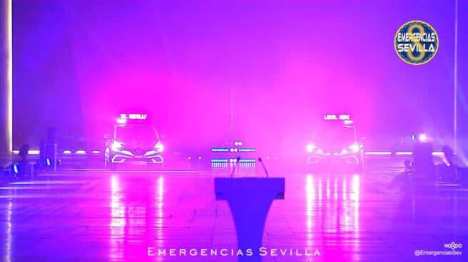 Los nuevos vehículos de la Policía de Sevilla, via Twitter oficial de Emergencias Sevilla.
