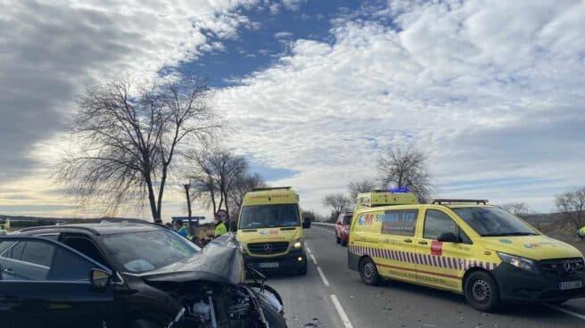 Imagen de archivo de accidente de coche