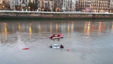 Localizan sin vida a uno de los ertzainas que cayó con su coche patrulla en el río Urumea