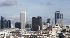 Vista de la zona de rascacielos de Madrid.
