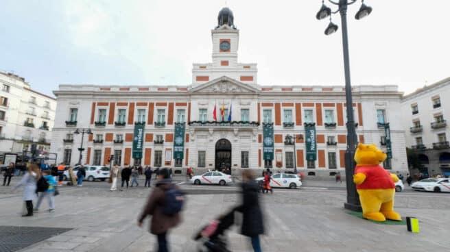 Fachada de la Casa de Correos, situada en la Puerta del Sol, en una imagen de archivo.