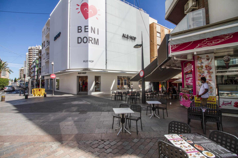Zona de ocio de Benidorm (Alicante).