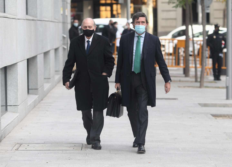 El exministro del Interior Jorge Fernández Díaz llega a la Audiencia Nacional.