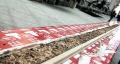 Elaboración del turrón de chocolate más largo del mundo en Madrid.