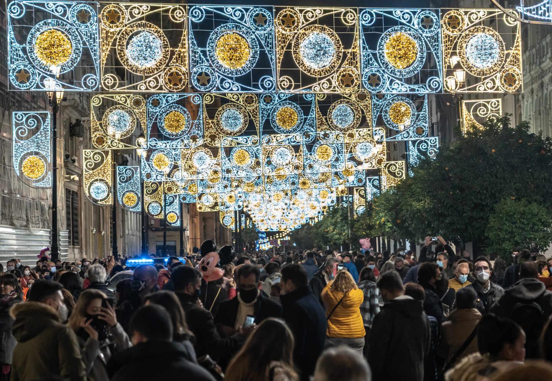 Encendido de las luces de Navidad, en Sevilla.