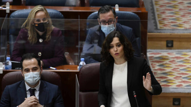 Isabel Díaz Ayuso, en la Asamblea de Madrid.