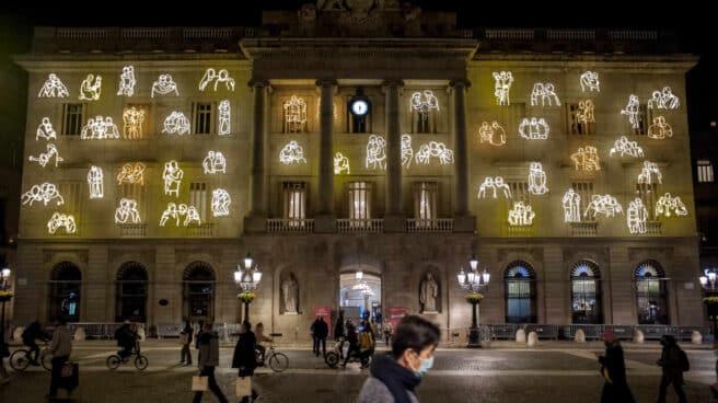 Ambiente de Navidad en Barcelona.