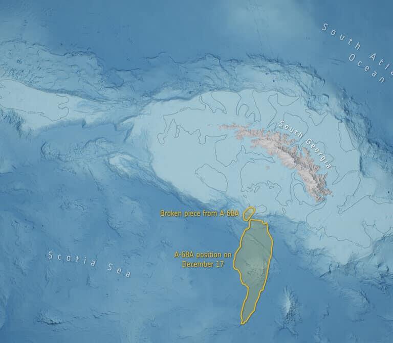 Un bloque de hielo del tamaño de Sevilla se desprende de un iceberg gigante