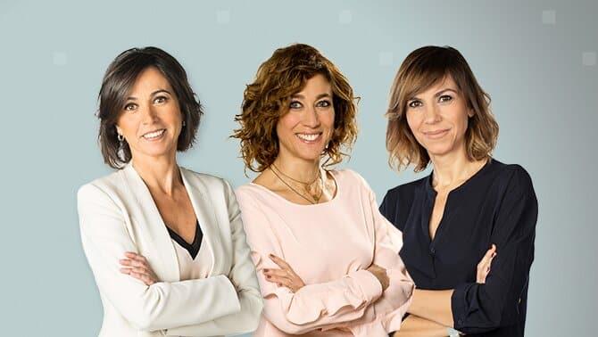 Lídia Heredia, Helena Garcia Melero i Cristina campanadas 2020 2021 tv3 catalunya cataluñaPuig