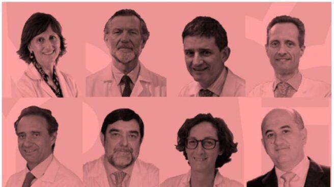 De izquierda a derecha: Dra. Llamas, Dr. Charte, Dr. Echave-Sustaeta, Dr. García-Foncillas, Dr. Arroyo, Dr. Argente, Dra. Martín, Dr. De la Calle, Dr. Vieta, Dr. Álvarez-Linera, Dr. Cabrera y Dr. Gamboa.