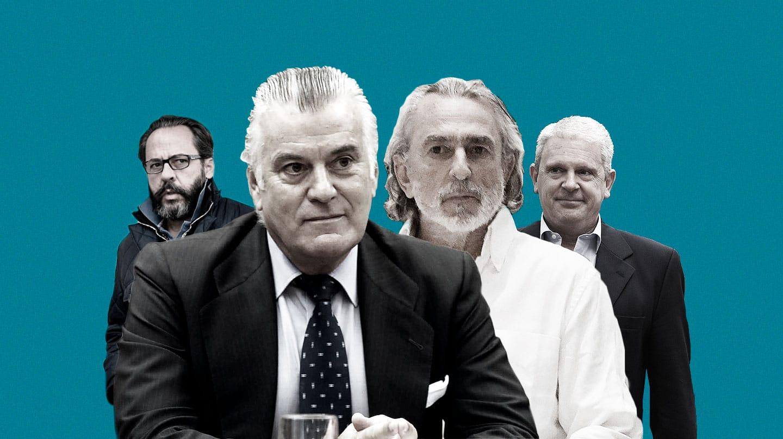 De izquierda a derecha: Álvaro Pérez, alias 'El Bigotes', Luis Bárcenas, Francisco Correa y Pablo Crespo.