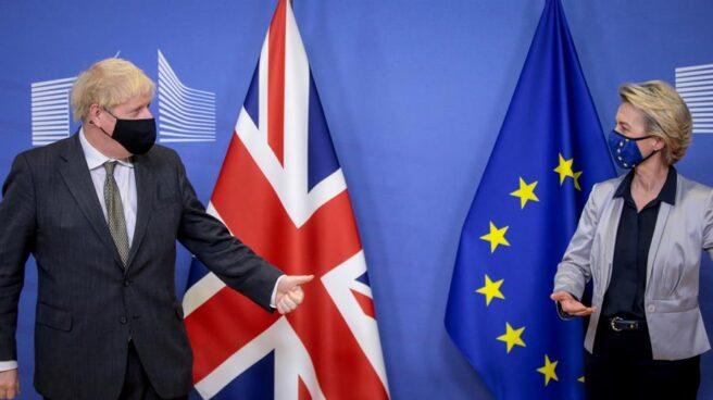 Boris Johnson y Ursula Von der Leyen, en Bruselas.