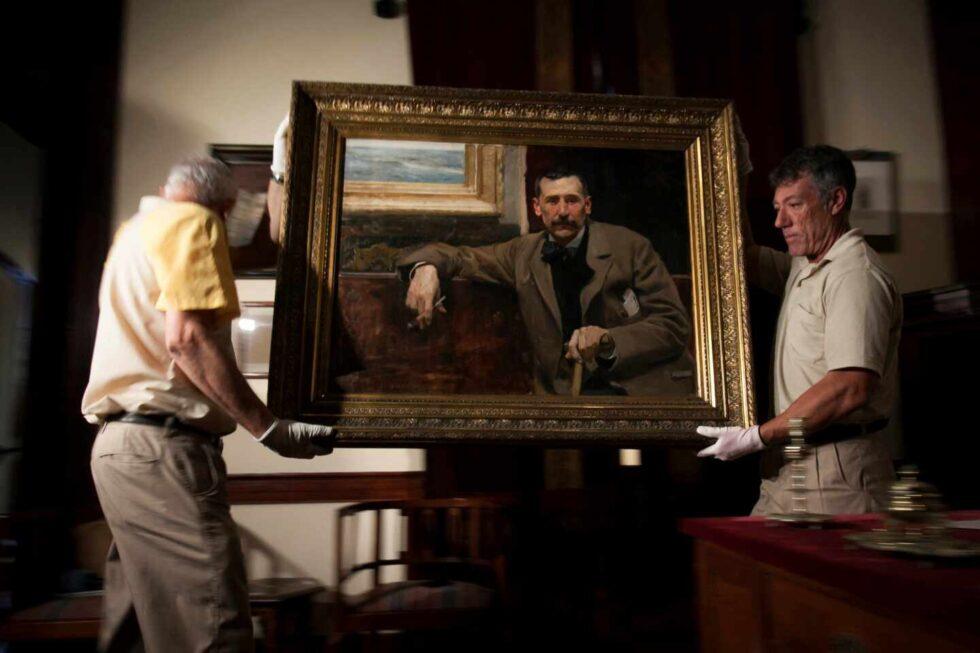 Retrato que Joaquín Sorolla pinto de Benito Pérez Galdós