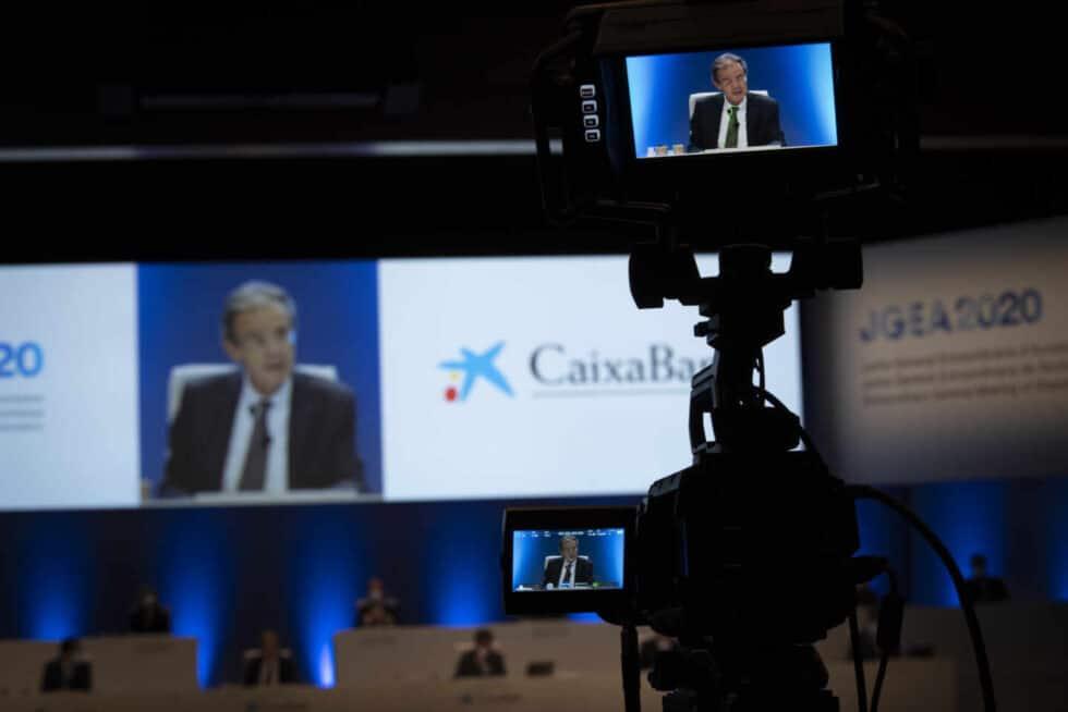 La junta de CaixaBank aprueba la fusión con Bankia.