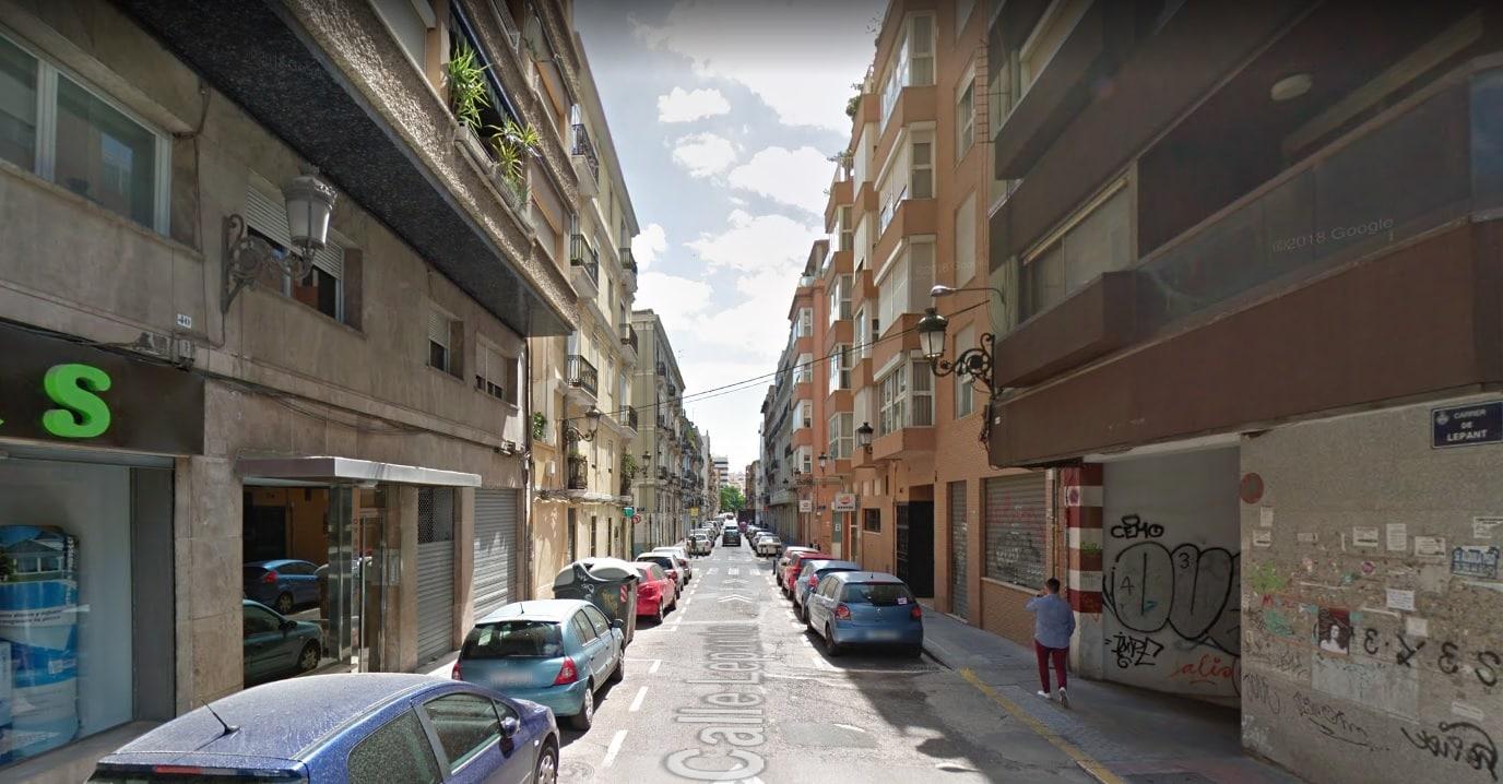 Calle Lepanto, en Valencia.