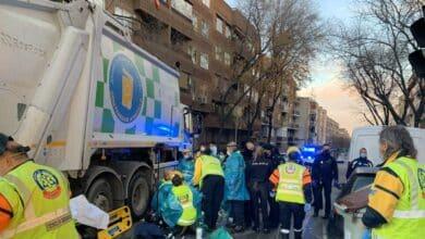 Muere un ciclista en Madrid tras ser atropellado por un camión de basura
