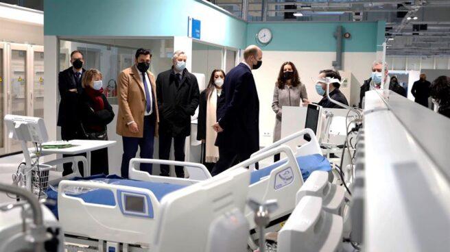 Visita de diplomáticos al hospital Isabel Zendal.