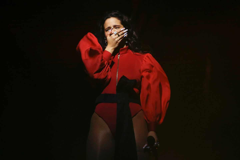 Rosalía en un concierto en Barcelona.