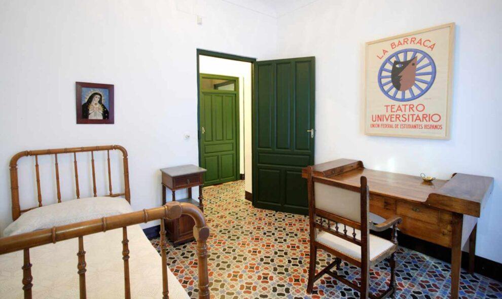 Dormitorio de Federico García Lorca en la Huerta de San Vicente (Granada), que fue la finca de veraneo de la familia García Lorca.