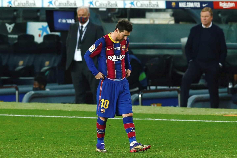 Leo Messi durante el partido de LaLiga Santander ante el Valencia.