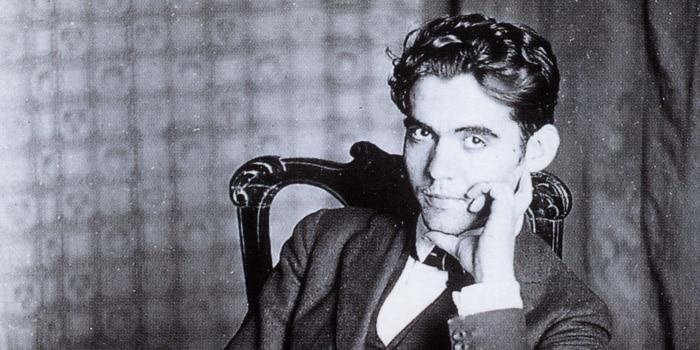 Retrato de Federico García Lorca, autor originario de Granada.