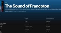 Cabecera de la lista de Spotify: 'The Sound of Francoton'