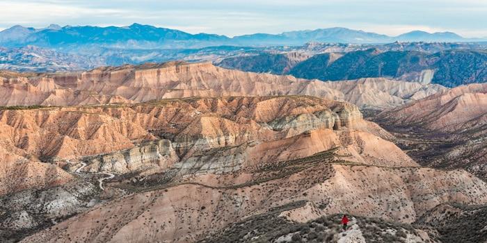 Foto de paisaje del Geoparque de Granada.