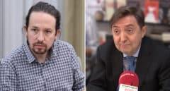 Pablo Iglesias se enzarza con Jiménez Losantos tras comentar el maquillaje de Yolanda Díaz