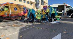 La imagen del siniestro, por Emergencias Madrid.