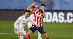 Luka Modric, durante el partido frente al Atlético de Madrid.