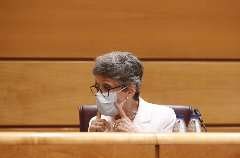 La administradora provisional única para la Corporación RTVE, Rosa María Mateo, en el Senado.