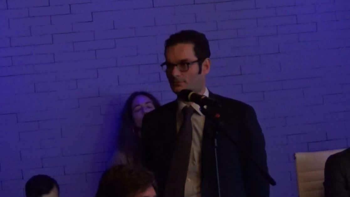 Joseph Oughourlian, en una junta de Prisa en 2017.