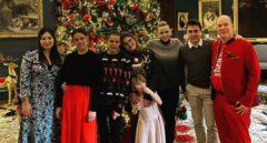 Estampa navideña de la familia real de Mónaco.