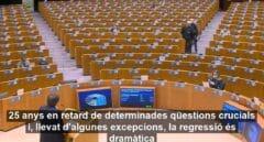 El mundo no mira a Puigdemont: interviene ante un Parlamento Europeo casi vacío