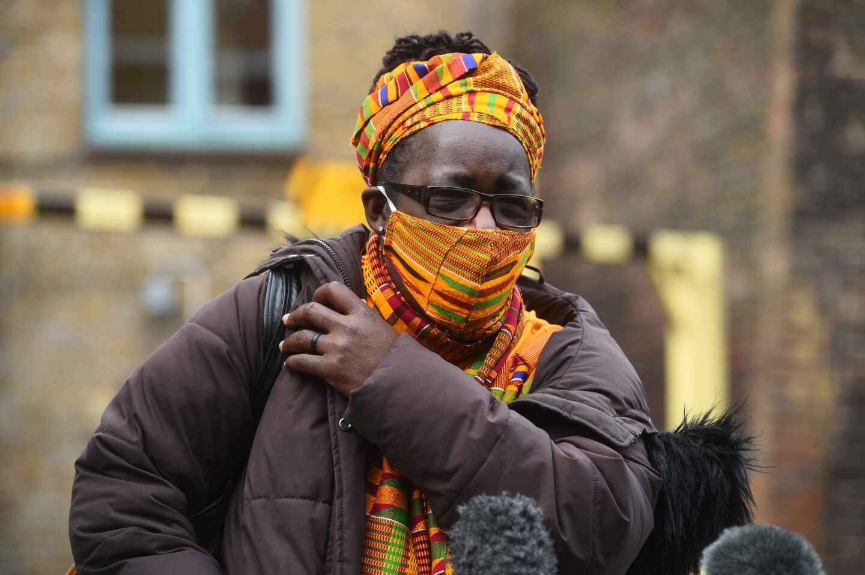 Rosamund Kissi-Debrah, a la salida del juzgado.