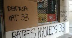 Radicales independentistas vandalizan una sede de ERC tras fichar a un diputado del PSC