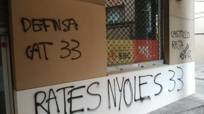 La sede de ERC en Mataró, vandalizada por radicales independentistas.