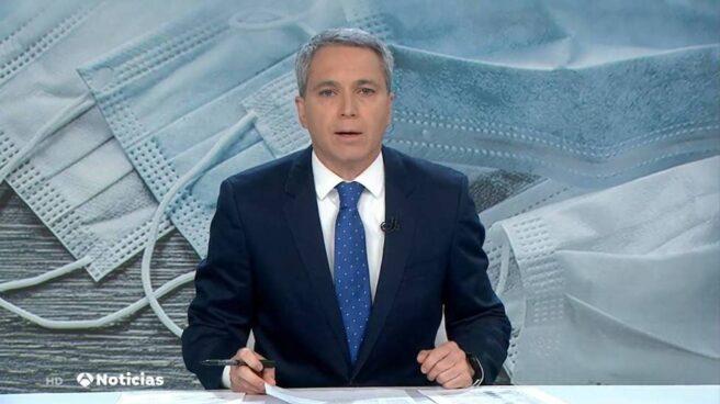 Vicente Vallés, en el informativo de Antena 3.