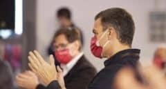 El presidente del Gobierno y secretario general del partido socialista, Pedro Sánchez, asiste al acto electoral en Tarragona.