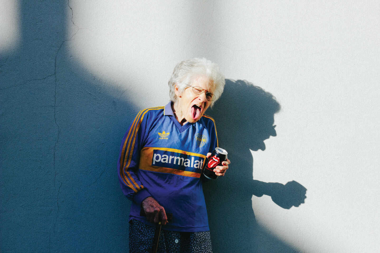 Una aficionada de Boca Juniors.