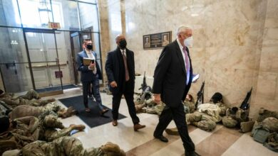 La Guardia Nacional acampa en el Capitolio antes del juicio político contra Trump