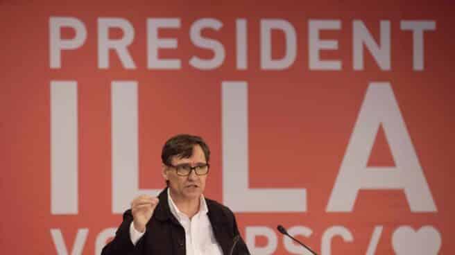 El candidato del PSC a las elecciones de Cataluña, Salvador Illa.