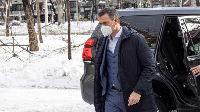 Pedro Sánchez llega al Ministerio del Interior.