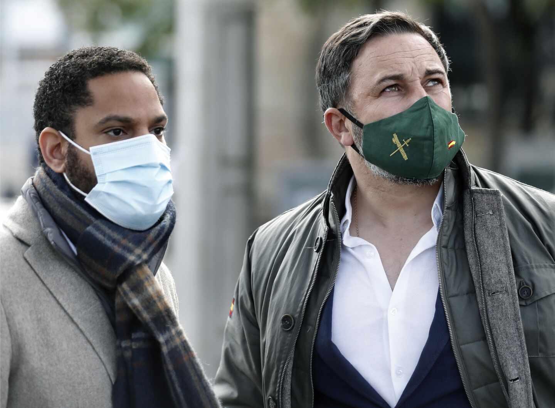 Ignacio Garriga y Santiago Abascal, en Barcelona.