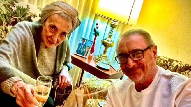 Blanca Crusset y Carlos Herrera, en una imagen obtenida del perfil de Instagram del periodista.