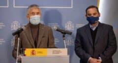 Los ministros del Interior, Fernando Grande-Marlaska, y Transportes, José Luis Ábalos.