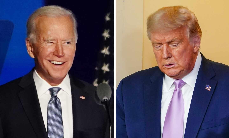 Joe Biden y Donald Trump.