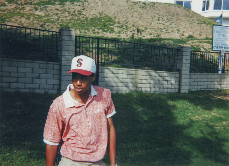 Tiger Woods de joven.