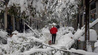 Ayuso pide a los ciudadanos que ayuden a quitar la nieve